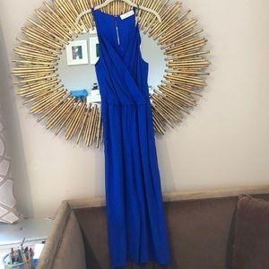 Amanda Uprichard Blue Silk Jumpsuit